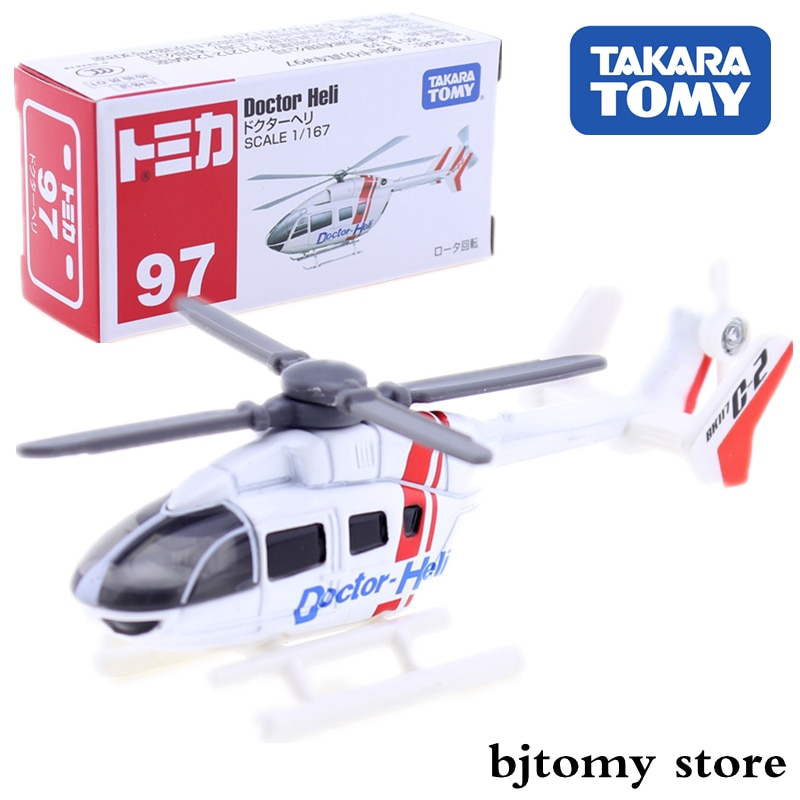 Takara Tomy Tomica 97 Doctor Heli 1:167 Miniature Helicopter Model Kit Diecast Hot Baby Toys Pop Airplane Kids Doll Funny Bauble