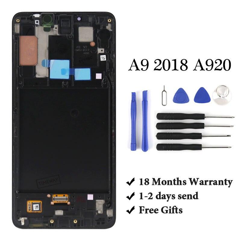 Pantalla lcd OLED de 6,3 para Samsung A9 2018 A920 Buena pantalla lcd para teléfono móvil montaje de reemplazo de pantalla LCD para A9S / A9 star pro lcd