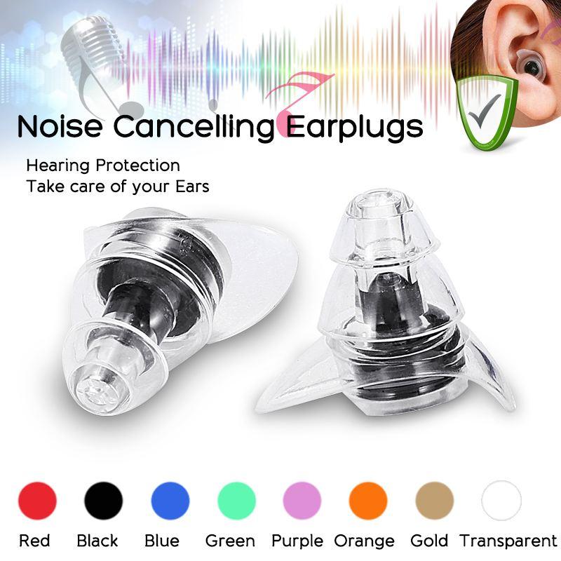 1 Pair Noise Canceling Ear Plugs Anti-Noise Silicone Waterproof Dust-Proof Earplugs Diving Water Spo