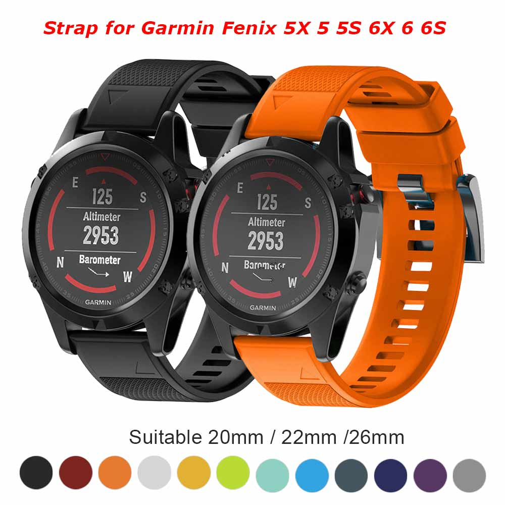 26 22 20mm pulseira para garmin fenix 5x5 5S 3 3hr d2 s60 gps relógio rápido releasesinox tira tira tira tira de pulso cinta