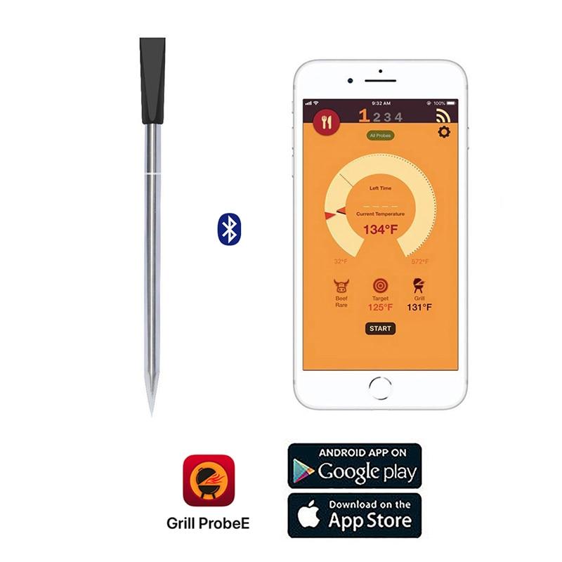 Termómetro inalámbrico de cocina para carne, para horno, parrilla, ahumador de barbacoa, termómetro giratorio, Accesorios inteligentes Bluetooth para barbacoa, regalos