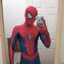 The Amazing Costume Halloween TASM2 Zentai Cosplay Suit 3D Print Halloween Costume Bodysuit