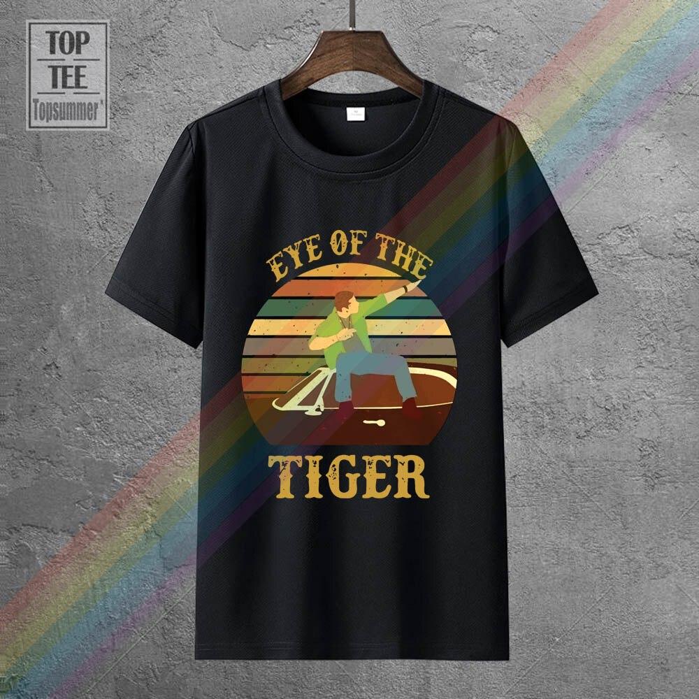 Сверхъестественное Дин глаз тигра Винтаж Мужская черная футболка хлопок S 4Xl