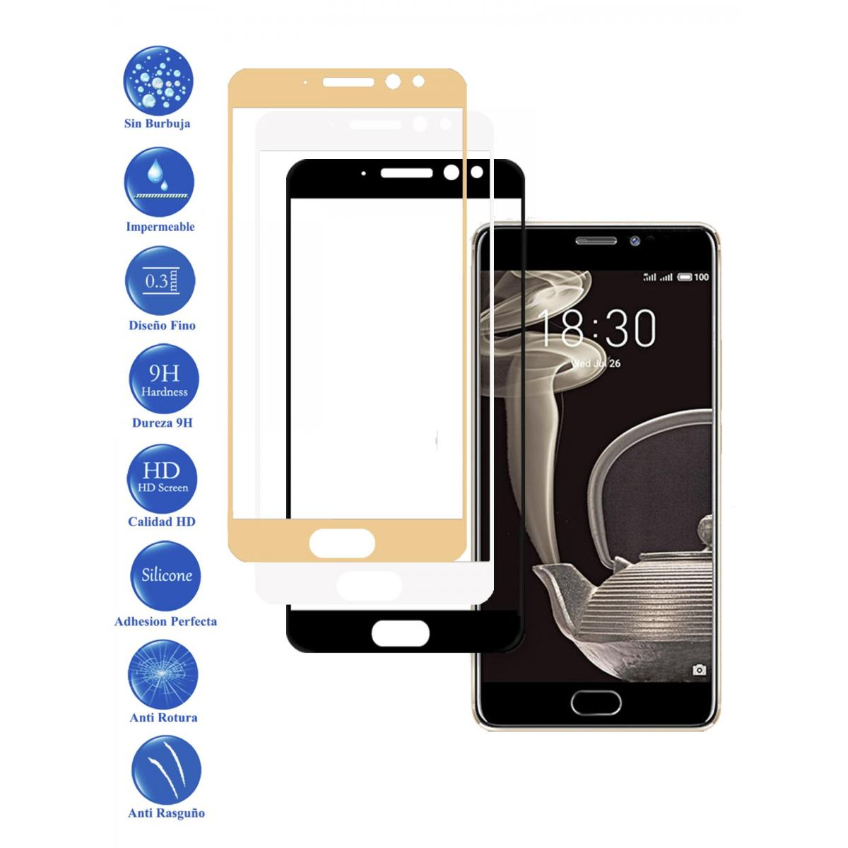 Tempered Glass Protector Full 3D 9 H for Meizu Pro 7 Choose Color