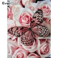 EverShine     peinture diamant theme papillon  broderie complete  points de croix  images danimaux carrees  strass  decor de maison fait a la main