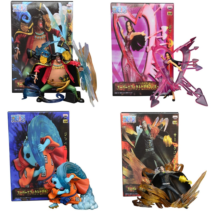 AliExpress - 4pcs/set Anime One Piece Jinbe Boa Hancock Marshall D Teach Sir Crocodile PVC Action Figures Collectible Model Toys Doll Gifts