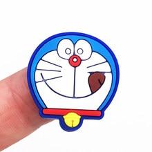 1pcs Doraemon Cartoon Anime Dorami Figure Flatback Pvc Silicone Accessories DIY Phone Case Making Kids Ring Pen Cap Badge Patch