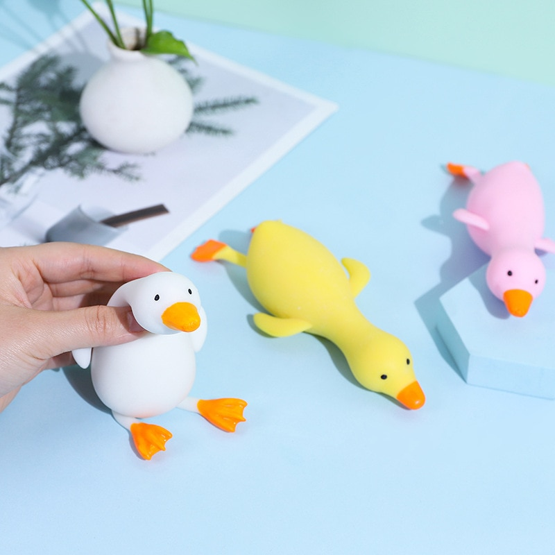 aliexpress.com - 1PC Random Fun TPR Cute Cartoon Duck Stress Relief Squeeze Ball Reliever Squish Toy Animal Antistress for Children Adult Gifts