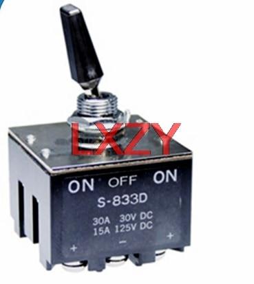 شحن مجاني 2 قطعة/الوحدة S-833D S833D 3PDT على الخروج على 30A تتأرجح التبديل