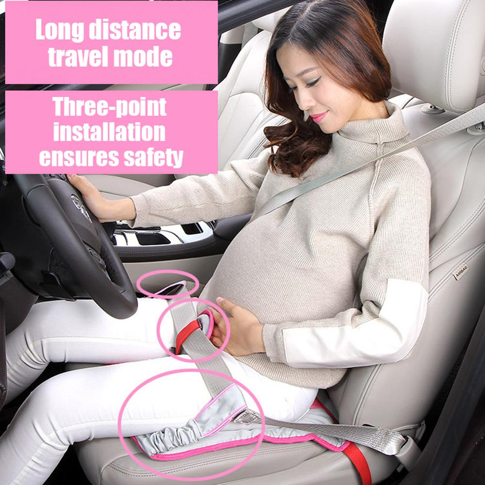 2020 New Arrival Pregnant Woman Car Seat Cushion 16.5 x Inch Soft Pad Protection Strap Safety Driving Belt