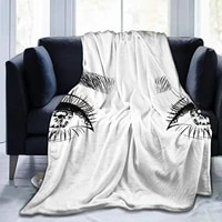 super soft throw blankethand drawn womans luxurious eyes with perfectly shaped eyebrows and full lasheswarm anti pilling