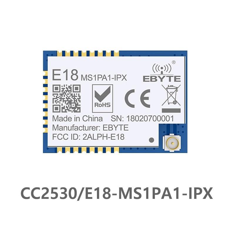 e18 ms1pa1 ipx zigbee cc2530 24 ghz 100 mw ipx antena iot uhf transceptor sem fio
