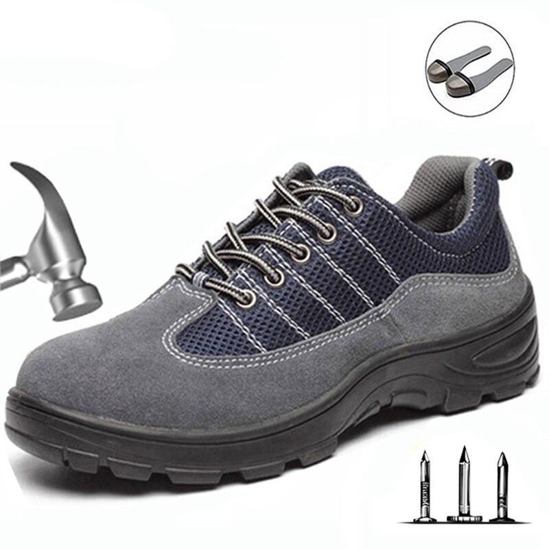 גברים ונשים ביטוח עבודת לנשימה עמיד למים עור נעלי אנטי קרדית Atab עמיד חומצה & אלקלי ללבוש בטיחות נעליים