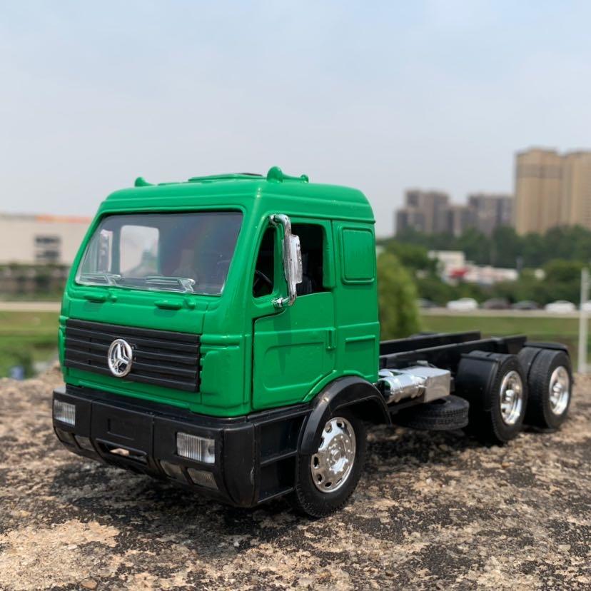 Новинка 1/32, специальная цена, литой металлический немецкий грузовик, Модель длиной 24 см, мебель, коллекционные игрушки для детей