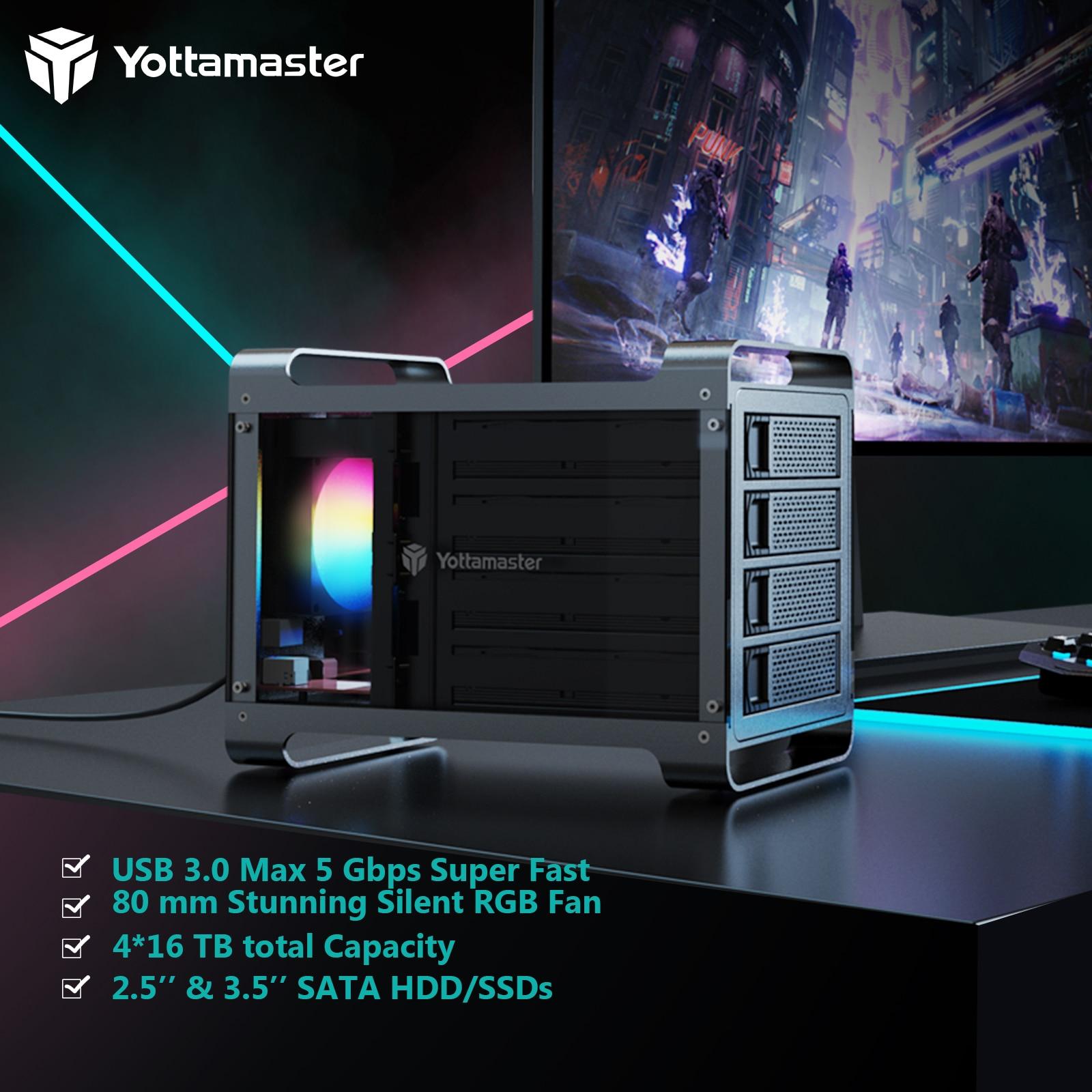 Yottamaster DF4U3 Hard Drive Enclosure 4 Bay 2.5