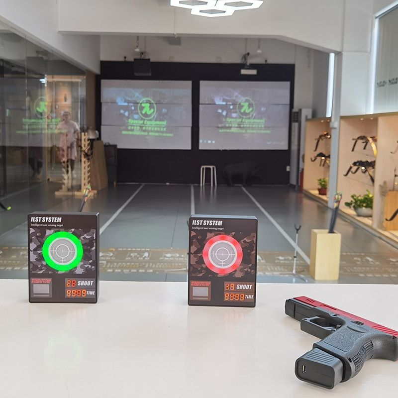 J10 Intelligent Electronic Scoring Timer Target Laser Sensing Target for Most of Laser Simulators IPSC Practising Target