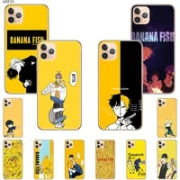 banana fish anime phone case for iphone 12 pro 11 xs max 7 8 6 6s plus x xr se2020 5s 12mini soft silicone tpu back cover coque
