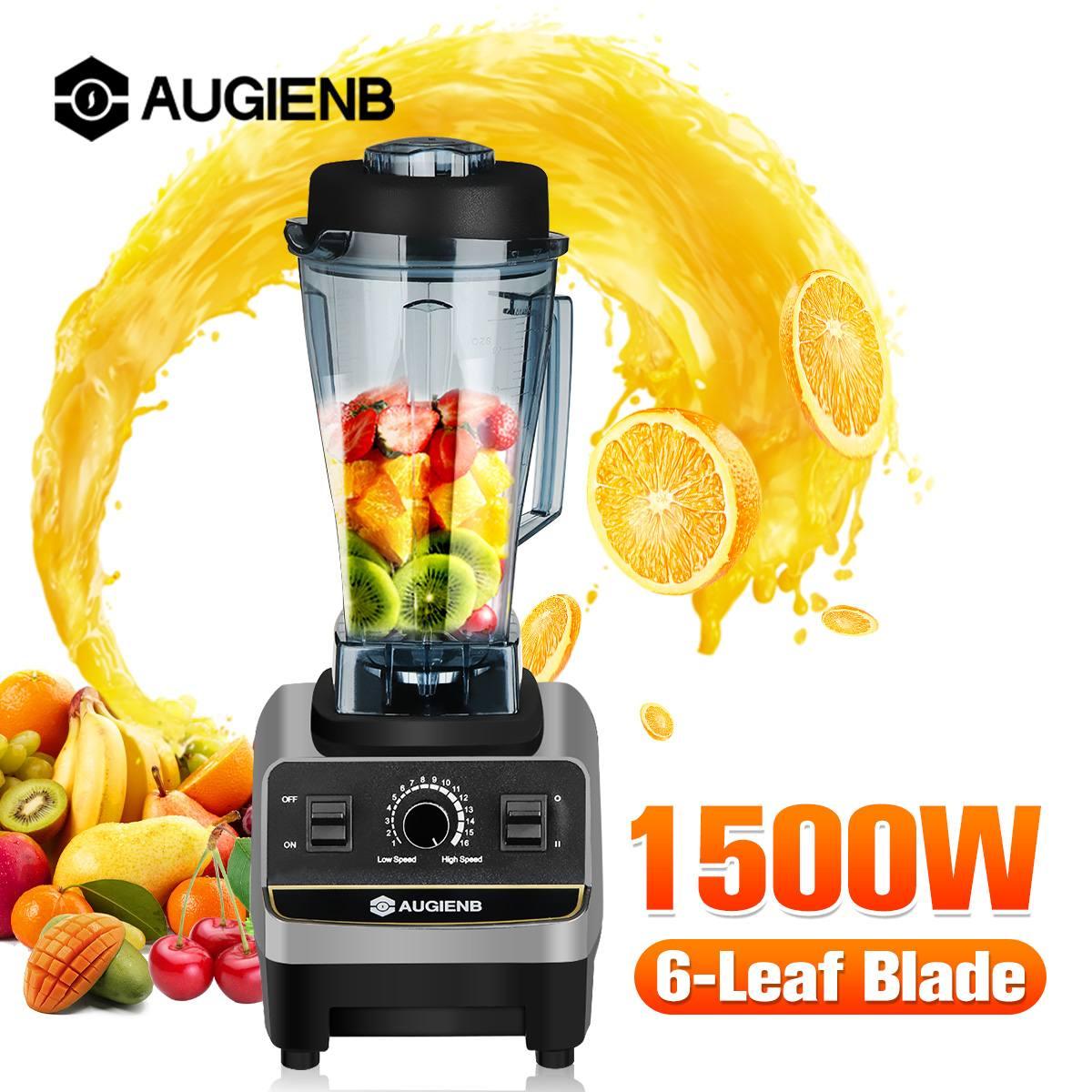 1500W Heavy Duty Commercial Grade Blender Mixer Juicer High Power Food Processor Ice Smoothie Bar Fruit Blender