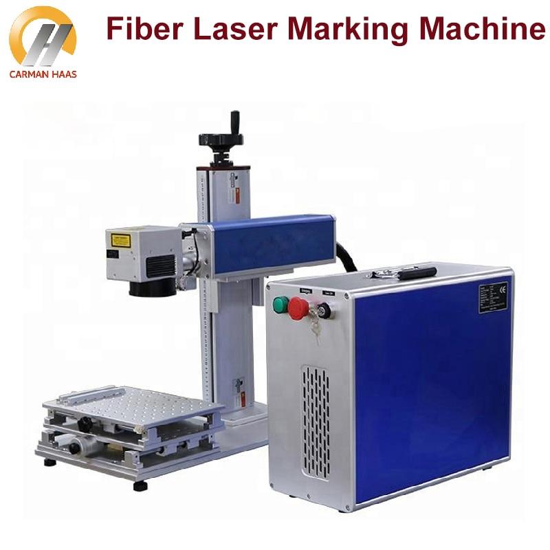 آلة وسم الألياف بالليزر المحمولة 20 واط ، وسم الفولاذ المقاوم للصدأ ، آلة النقش بالليزر المعدنية ، أقصى مصدر
