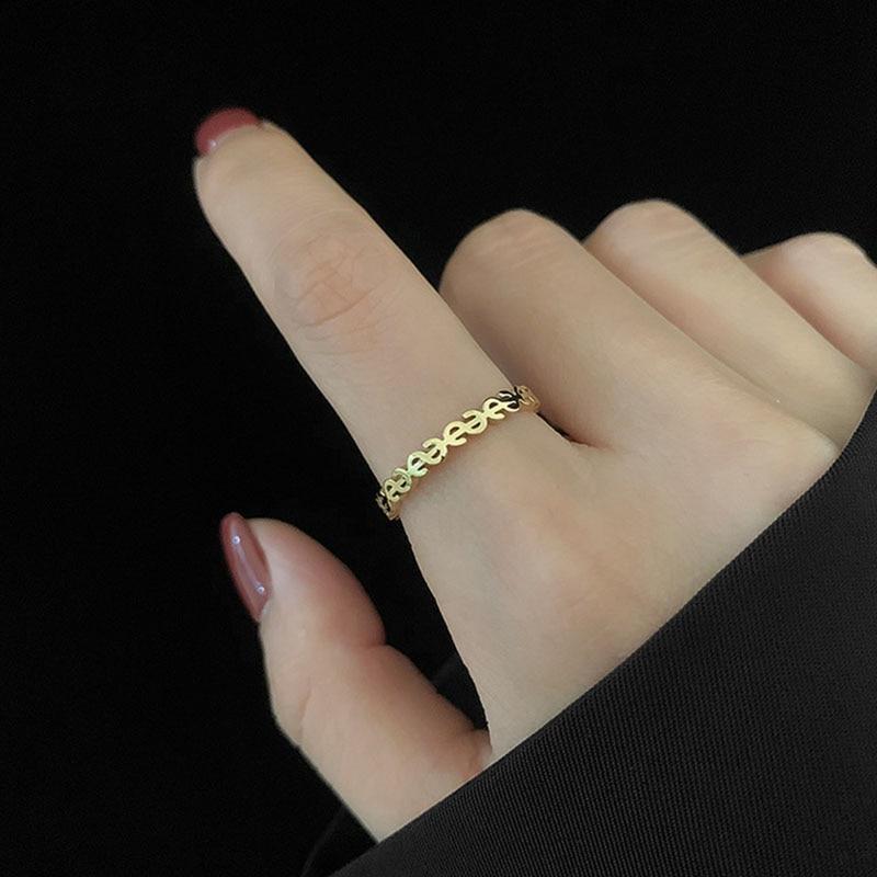 YWSHK титановая сталь Gold Dollar указательного пальца Пряжка совместные хвостовые обручальное кольцо для женщин ювелирные изделия аксессуары прямые продажи