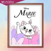 disney cartoon cute marie cat5d diamond painting cross stitch kits embroidery handicraft full drill mosaic resin home decor gift