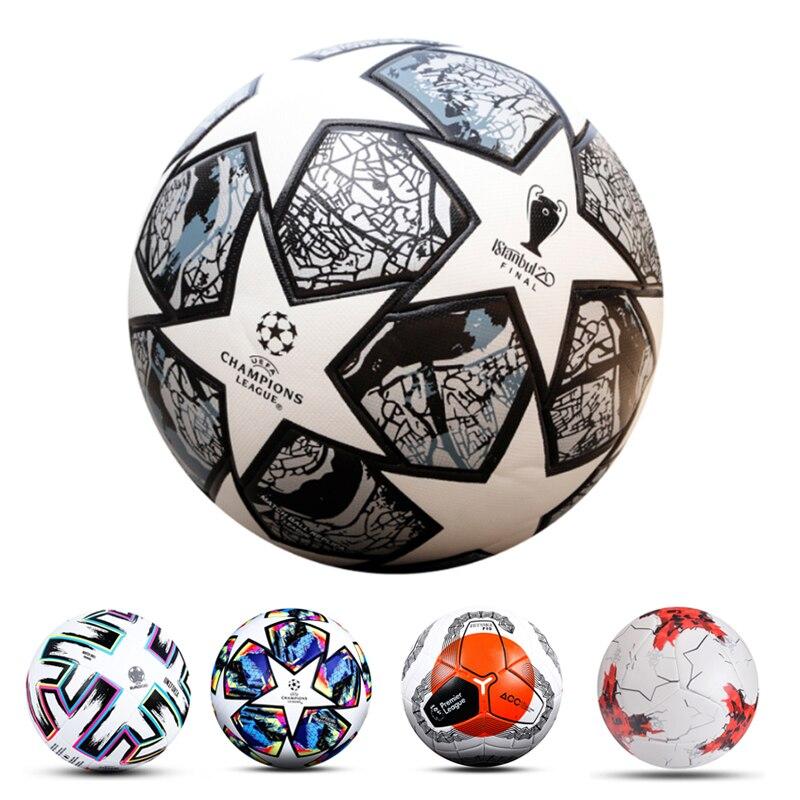 2021 أحدث كرة القدم حجم المهنية 5 غرزة نمط مباراة كرة القدم الكرة بولي Material المواد عالية الجودة الرياضة التدريب كرات
