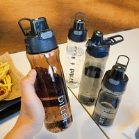 DILLER Water Bottle Popular Gray Men Outdoor Sport Travel My Drink Bottle Portable Leakproof Plastic Milk fruit gym Bottles