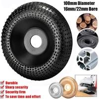 woodworking tools round wood angle grinding wheel abrasive disc angle grinder carbide coating 16mm22mm bore carving tool