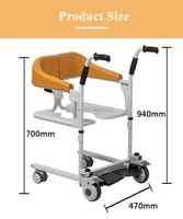 fashion multifunctional toilet with shower shifting machine home care commode transfer patient lift chair