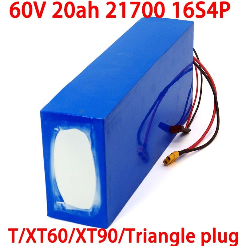 LiitoKala 60 فولت 20 أمبير 21700 16s 4p سكوتر كهربائي bateria 60 فولت 20 أمبير بطارية ليثيوم دراجة كهربائية 1000 واط 2000 واط بطاريات ebike