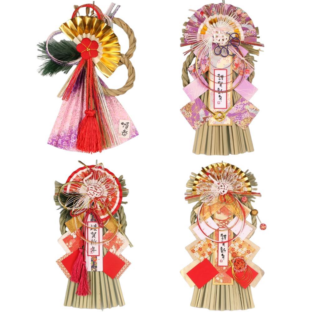 Decoraciones de fe estilo japonés pajita colgante de la pared de Año Nuevo pajita adorno malvado para la decoración de la puerta del restaurante