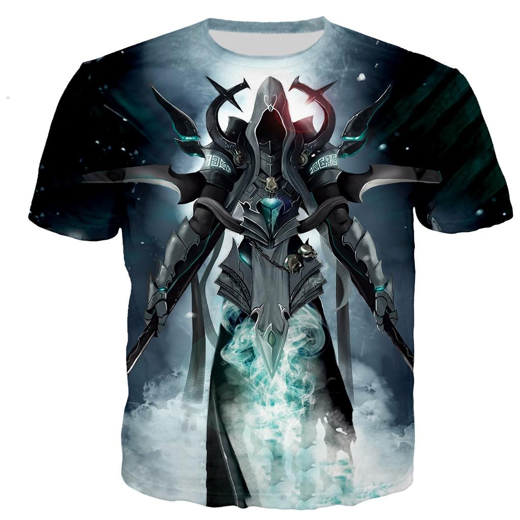Summer Diablo 3 Reaper of Soul 3D Printed T-shirts Men/women t-Shirts Casual Harajuku Hip Hop StyleO-neck Oversized t-shirt Top