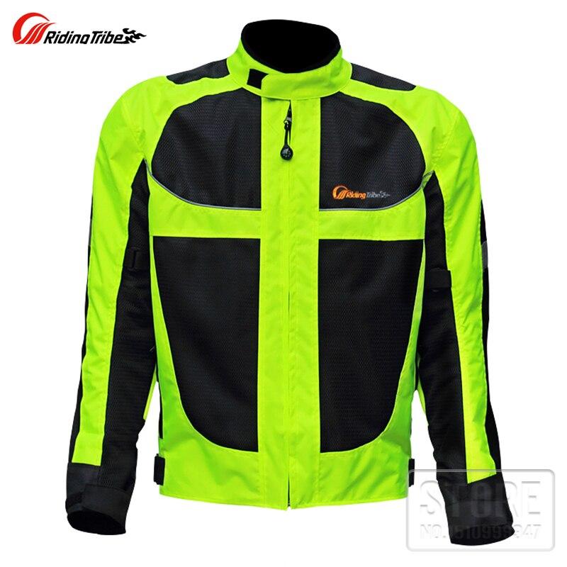 Motorbike reflective Night clothes jacket Motorcycle protective gear pads jackets Riding racing summer pants clothing