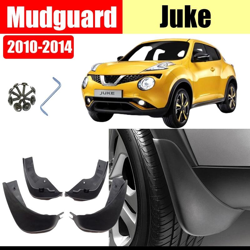Mud flaps for Juke Mudguards Fender juke flap Guard splash Fenders mudguard car accessories Front Rear 4 pcs