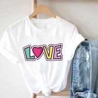 goblincore white t shirts kawaii printiing love original designer clothes fairycore gentle alphabet t shirts women 2021
