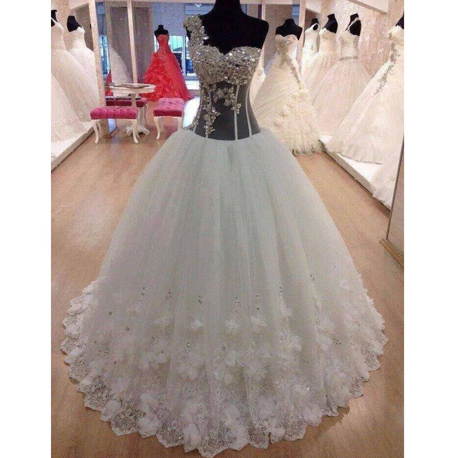 платье kidonly kidonly mp002xw0iu2q Роскошное бальное платье, свадебное платье принцессы 2021, свадебное платье на одно плечо, кружевное платье, платье для невесты