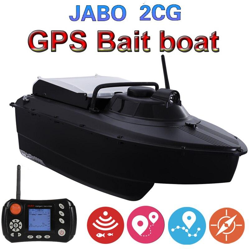 Upgraded JABO 2CG 36A 20A 10A GPS Sonar Auto Return Fishing Bait Boat 2.4G GPS Sonar Fish finder 2AN-3  5AG(8nests)