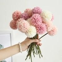 Bouquet de fleurs artificielles en soie  1 3 5 pieces  fausses fleurs de pissenlit bricolage decorer la maison  pour un cadeau de saint-valentin