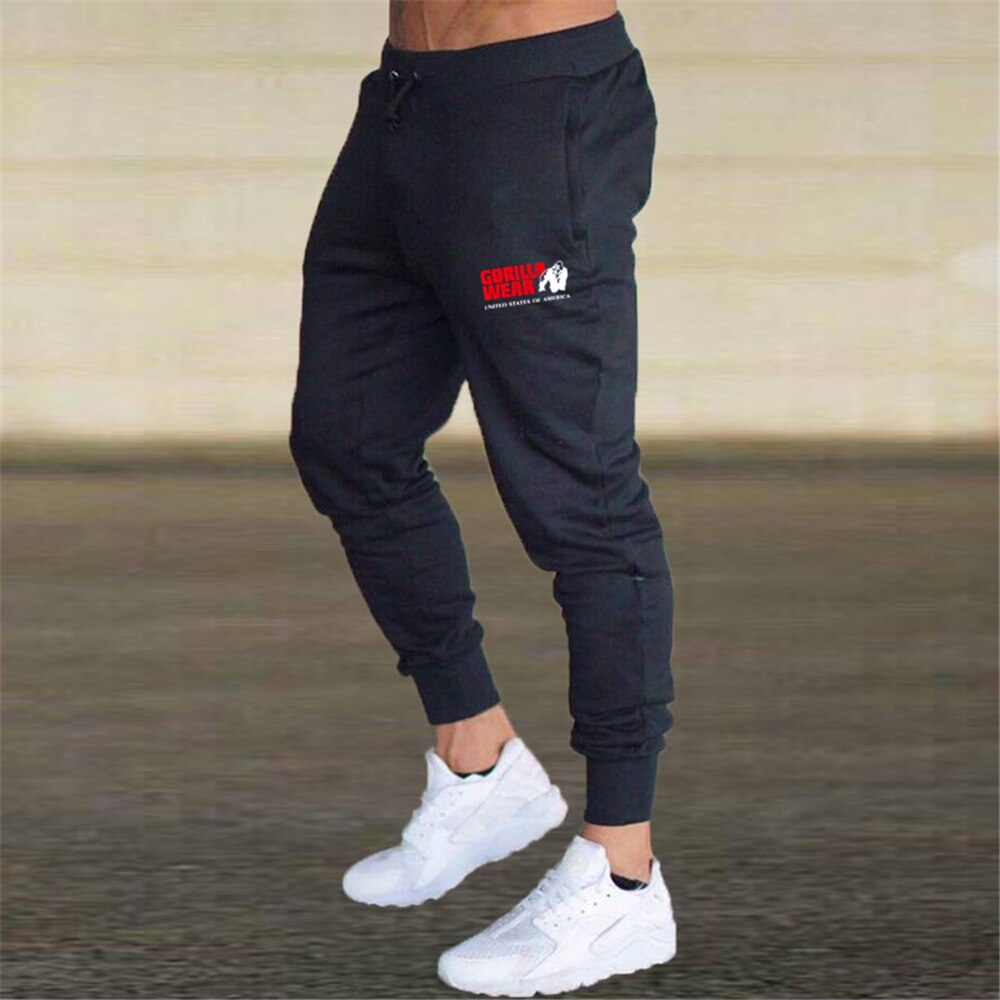 Gorilla Wear Men's Jogging Pants Casual Pants Fitness Men's Sportswear Leggings Sports Pants Trousers Gym Decoration