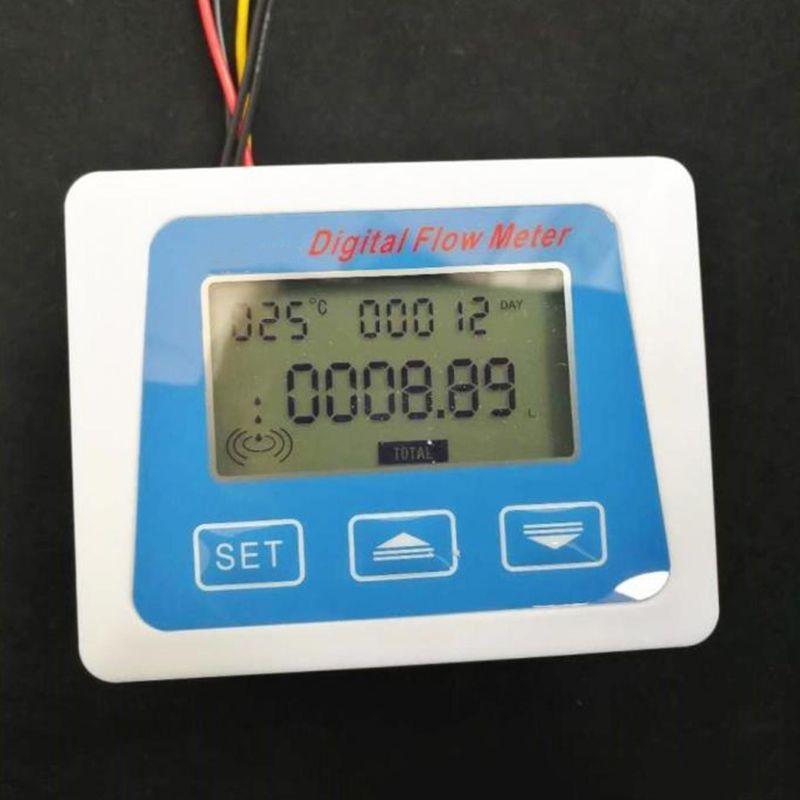 Pantalla Lcd Digital medidor de Sensor de Flujo de Agua flujómetro rotámetro temperatura L69A