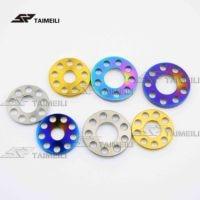 1pcs/titanium alloy drilling gasket nine holes flat pad M6 M8 M10 motorcycle shell decorative gasket
