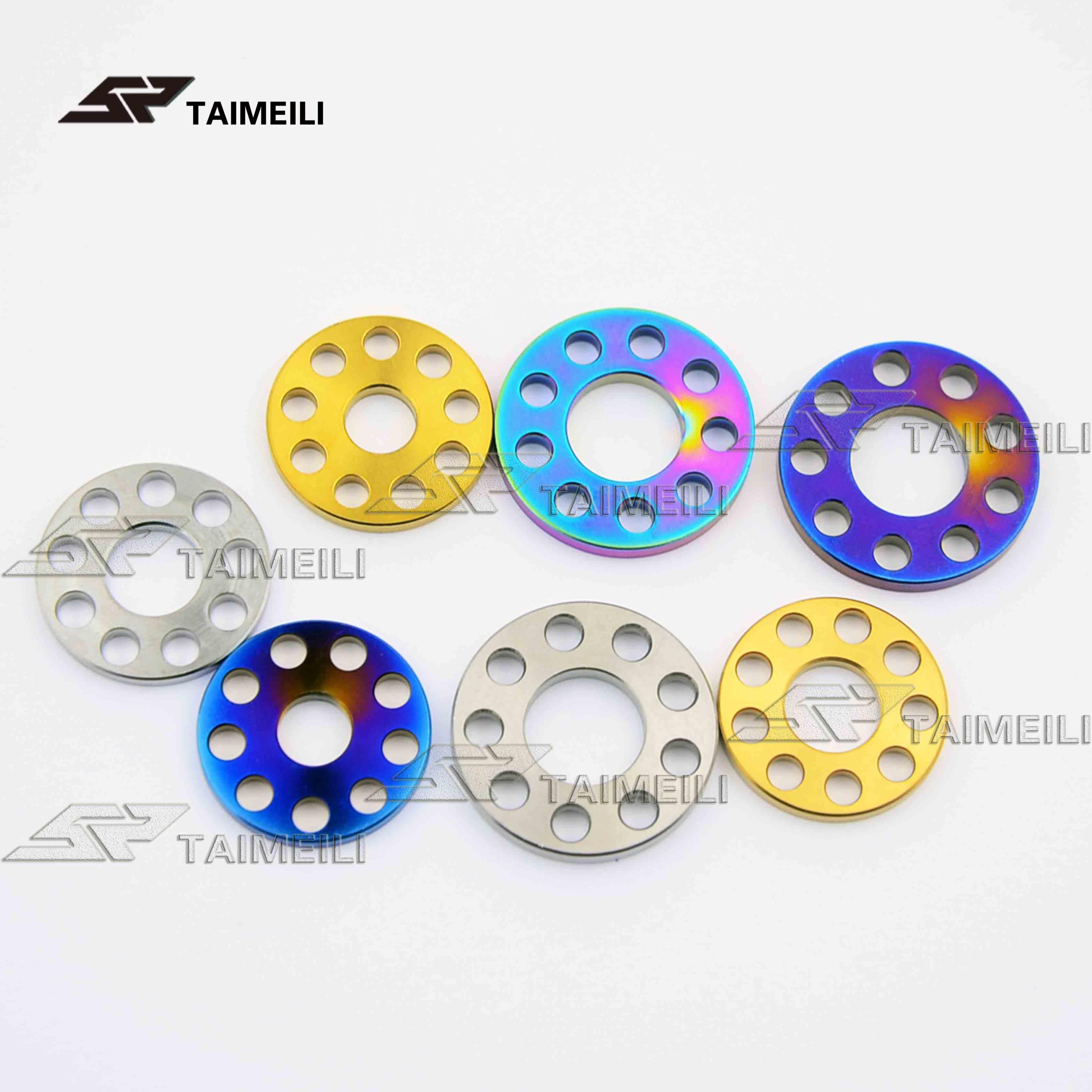 1pcs/titanium alloy drilling gasket, nine holes flat pad M6 M8 M10 motorcycle shell decorative gasket