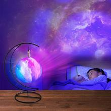 3D Printing Galaxy Moon Lamp Moon Night Light Kids Night Light Color Change Touch And Remote Control