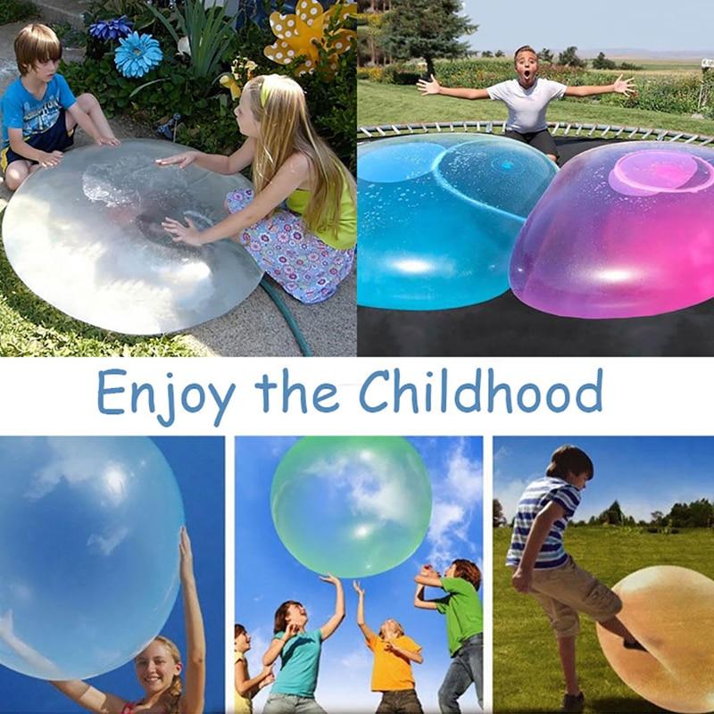 Pelota inflable para la playa, BOLA MÁGICA gigante, burbuja increíble, globos hinchables, juguete divertido para fiesta