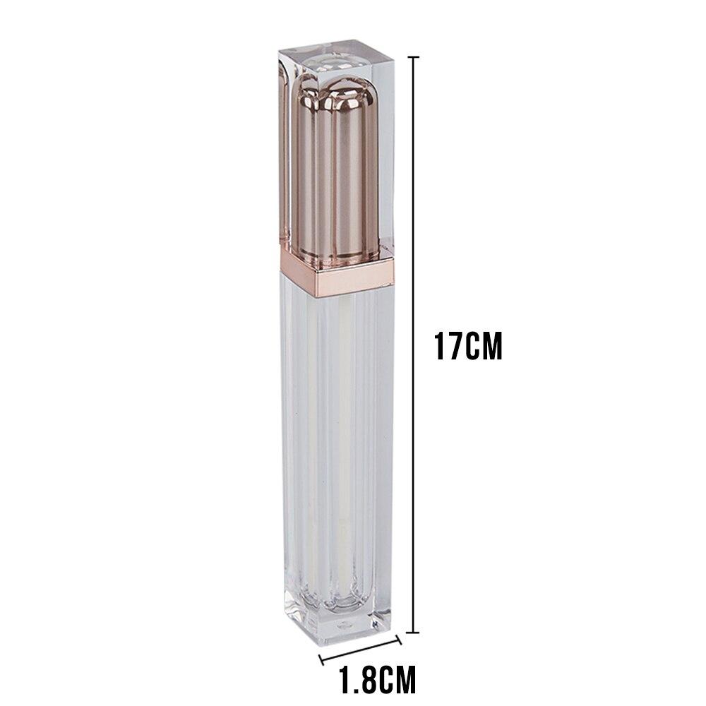 5 unids/lote 6ml botella de brillo de labios tubo vacío elegante de plástico líquido lápiz labial botellas de almacenamiento cosmética DIY tubos de bálsamo labial de herramienta de maquillaje