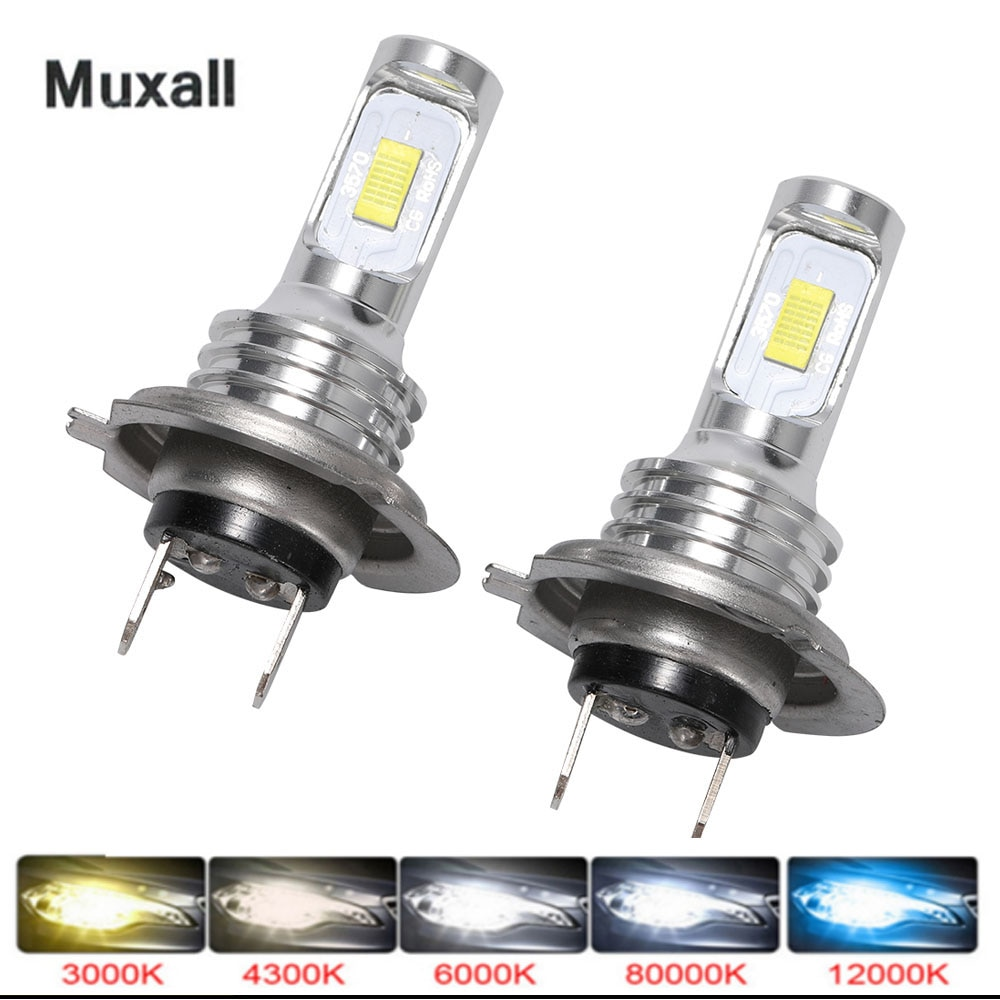 Muxall LED CSP Mini H7 LED Lamps For Cars Headlight Bulbs H4 led H8 H11 Fog Light HB3 9005 HB4 Ice B