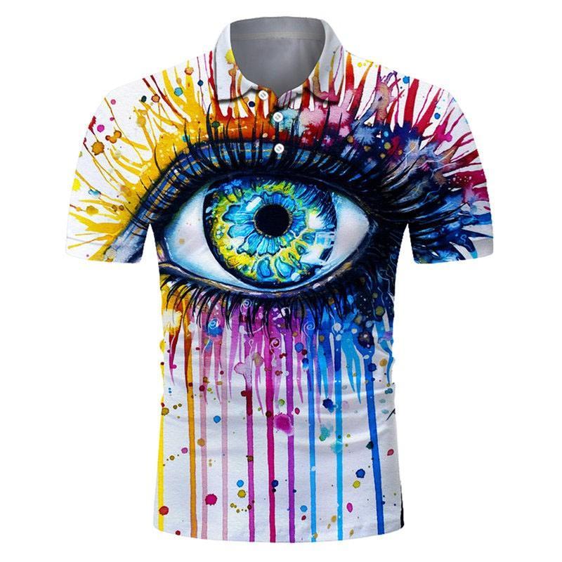 Camisa polo masculina nova, roupa de rua, moda, desportivo, casual, camisa polo de manga curta masculina