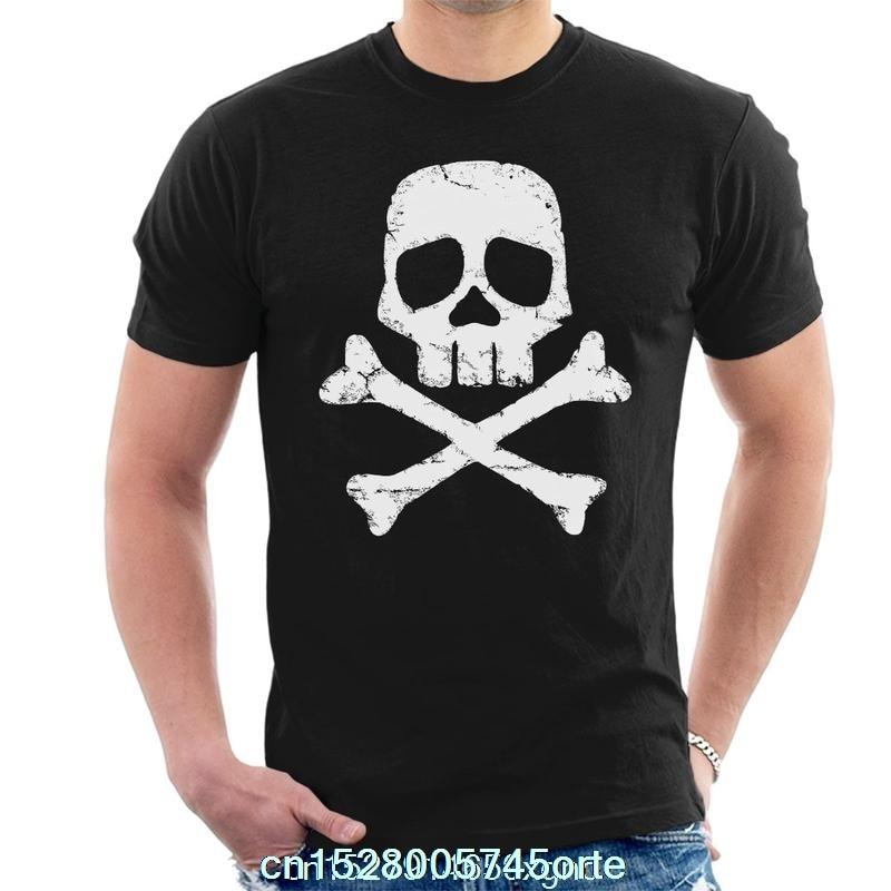 Camiseta estampada divertida 2020 espacio pirata capitán HARLOCK calavera y huesos cruzados para hombre camiseta para mujer