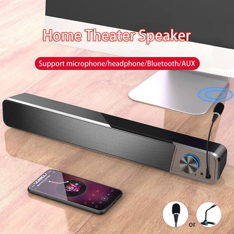 Altavoces Bluetooth Speaker Ordenador Microphone Bocinas barra de sonido para tv con...