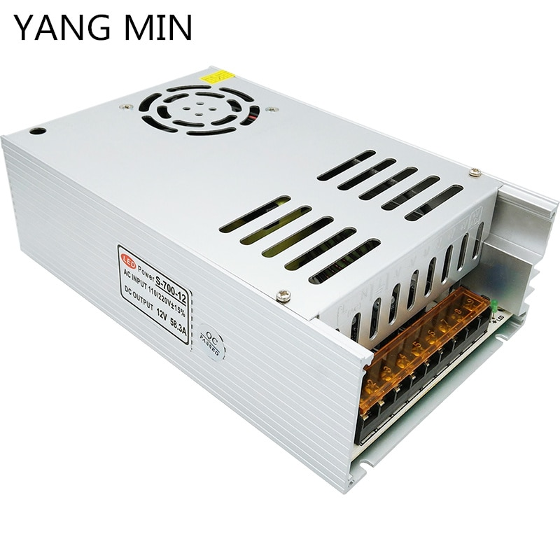YANG  MIN Free Shipping Wholesale 400W 500W 600W 700W 800W Constant Voltage 12V Power Adapter 24V Power Supply for Led Strip